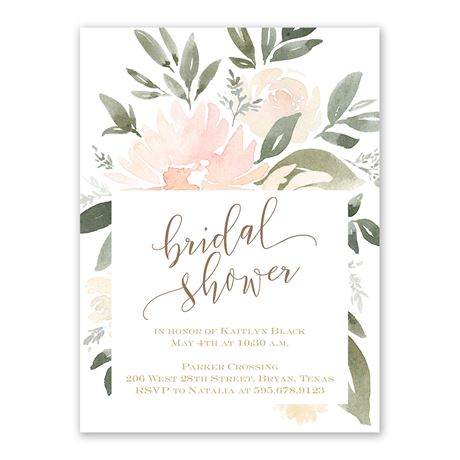 Soft Petals - Bridal Shower Invitation