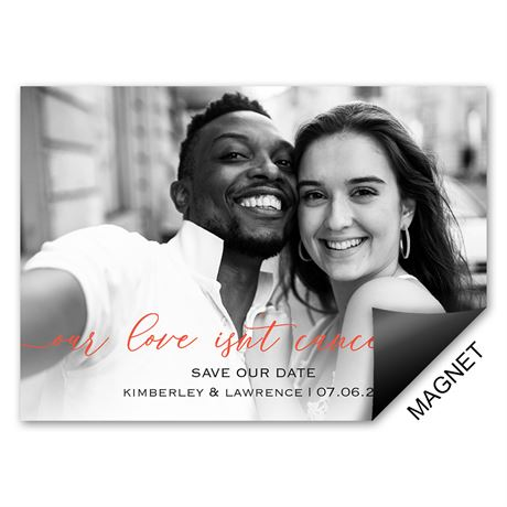 Not Canceled Save the Date Magnet