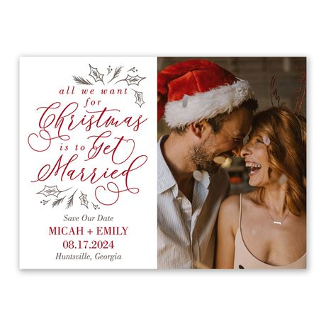 Get Married Holiday Save the Date
