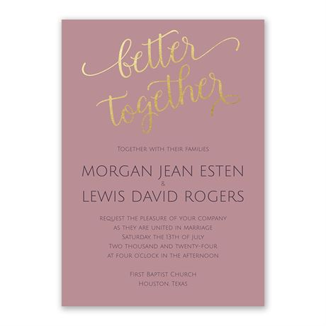 Better Together - Invitation with Free Response Postcard
