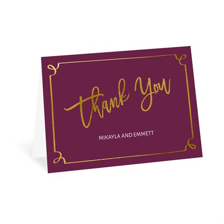 Golden Fairy Tale - Thank You Card