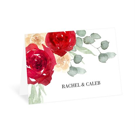 Painted Rose Thank You Card