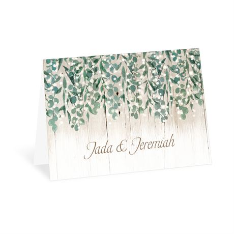Glowing Canopy Thank You Card