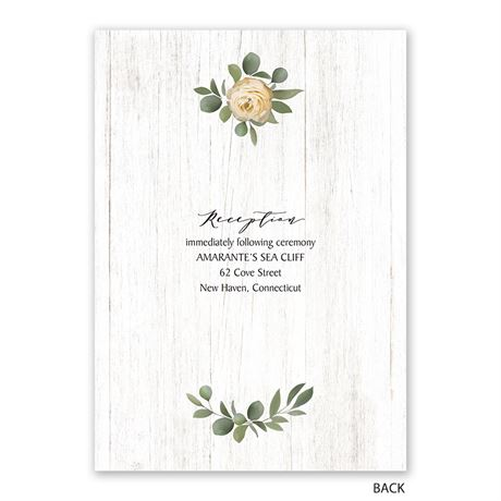 Greenery Wreath - Mr. and Mrs. - Invitation with Free Response Postcard
