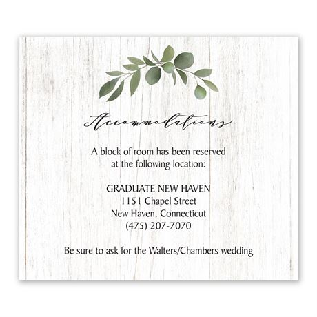 Greenery Wreath Information Card