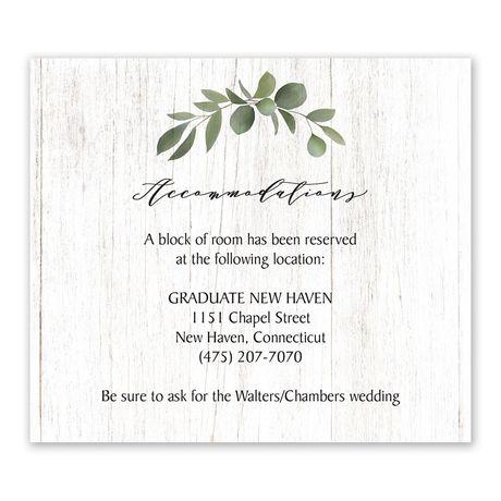 Greenery Wreath - Information Card