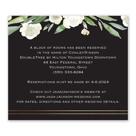 Budding Beauty Information Card