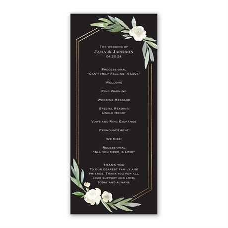 Budding Beauty Wedding Program