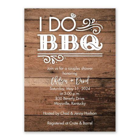 I Do BBQ Bridal Shower Invitation