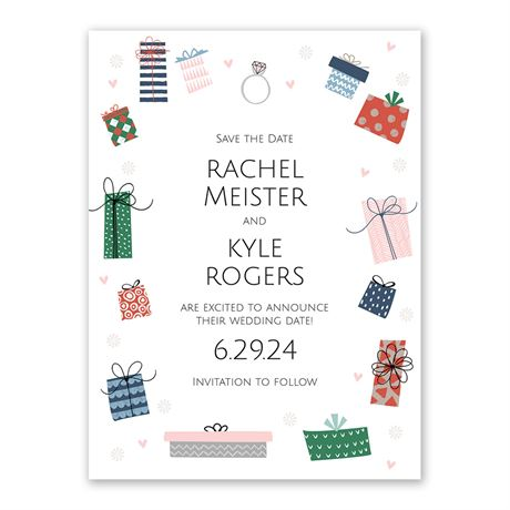 Whimsical Gifts Holiday Save the Date