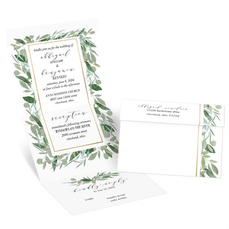 Natural Elegance Seal and Send Invitation