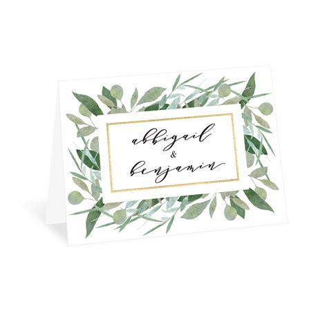 Natural Elegance Thank You Card