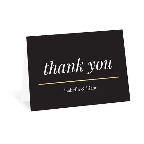 Modern Gold - Thank You Card