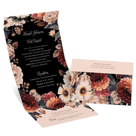 Lush Blooms Seal and Send Invitation