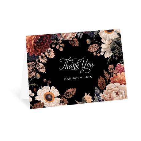 Lush Blooms Thank You Card