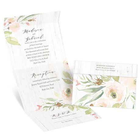Fresh Roses - Seal and Send Invitation