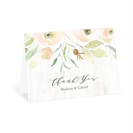 Fresh Roses Thank You Card