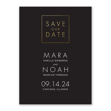 Gold Elegance Save the Date
