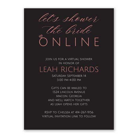 Virtual Shower - Bridal Shower Invitation