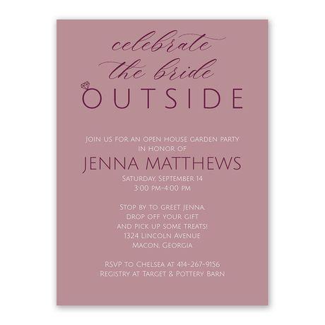 Outdoor Celebration - Bridal Shower Invitation