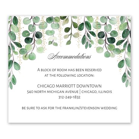 Under the Trees Information Card