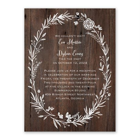 Ever After - Reception Invitation