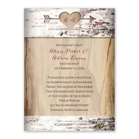 Carved Birch Reception Invitation