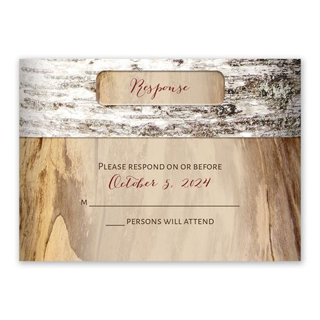 Carved Birch Response Card