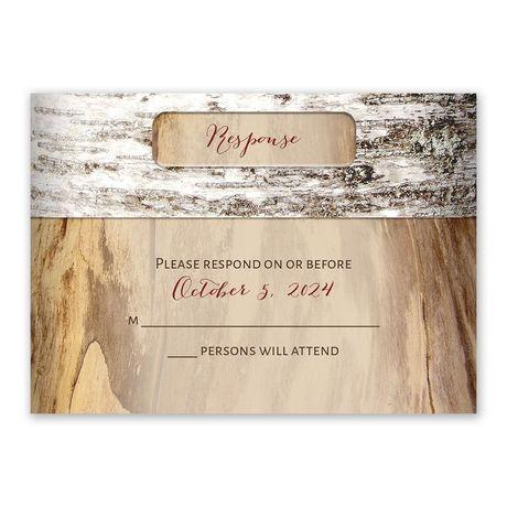 Carved Birch - Response Card