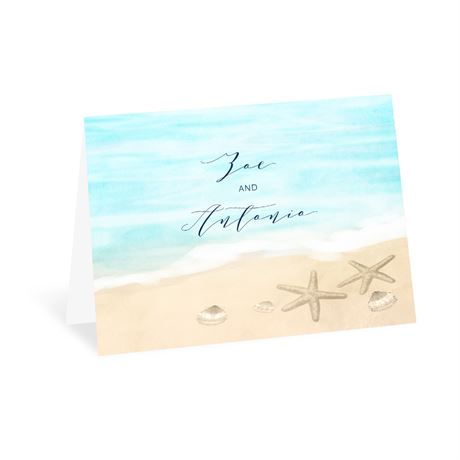Tropical Sunset - Thank You Card
