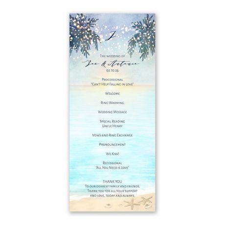 Tropical Sunset Wedding Program