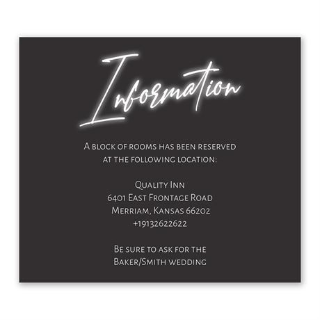 Bright Forever Information Card