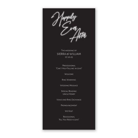 Bright Forever Wedding Program