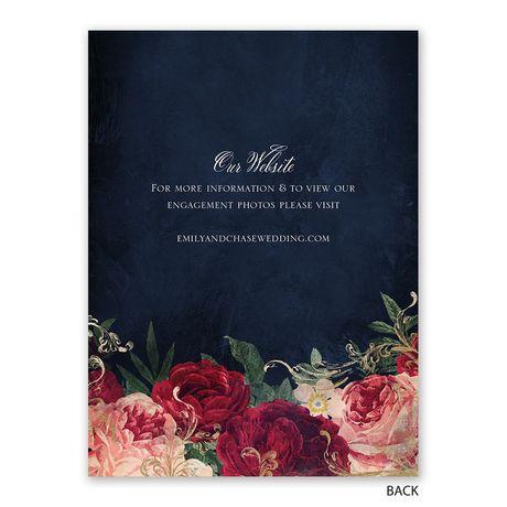 Florals and Flourishes - Reception Invitation