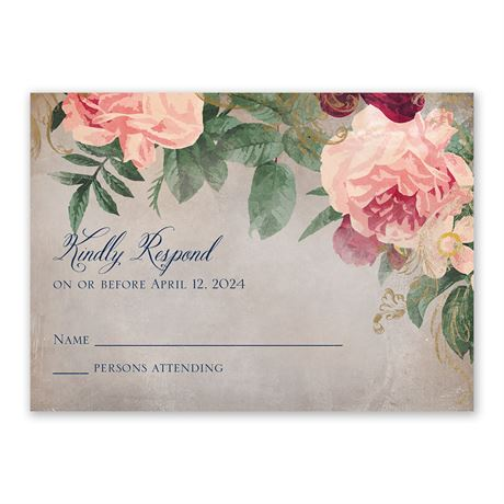 Florals and Flourishes Response Card