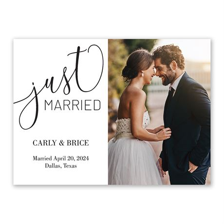 Just Married Reception Invitation