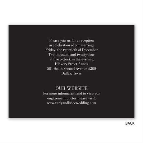 Just Married - Reception Invitation