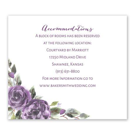 Pretty in Purple Information Card