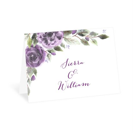 Pretty in Purple Thank You Card