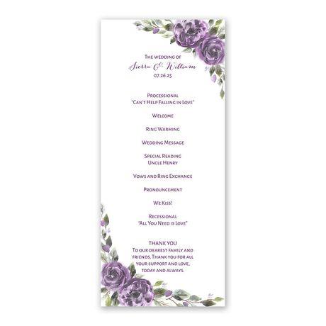 Pretty in Purple Wedding Program