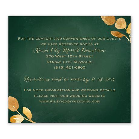 Golden Leaves Hunter Information Card