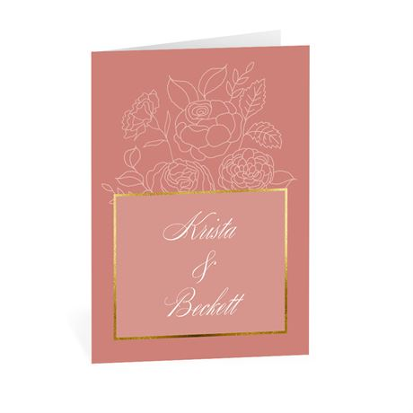 Delicate Blooms - Thank You Card
