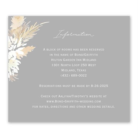 Naturally Glam Information Card