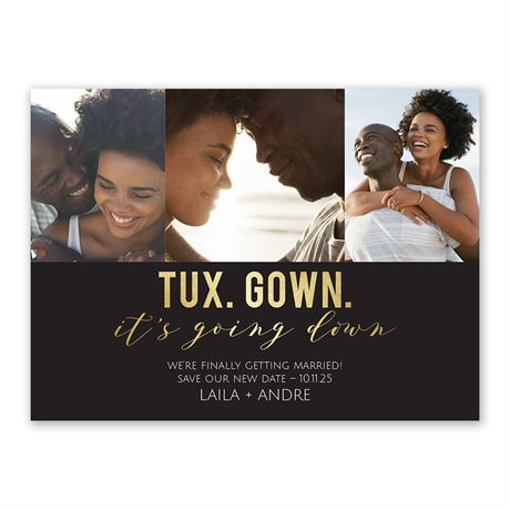 Tux and Gown Save the Date