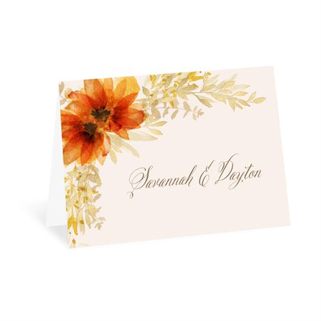 Autumn Blossoms Thank You Card