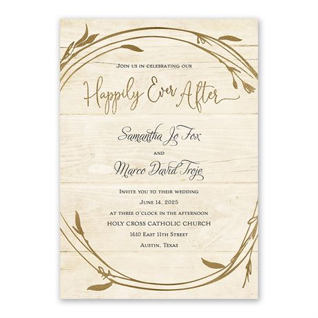 Happily - Invitation with Free Response Postcard