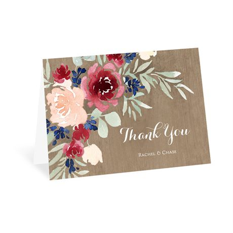 Natural Blooms Thank You Card