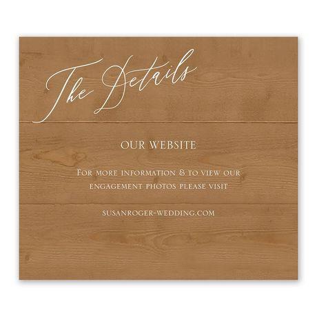 Natural Love - Timber - Information Card