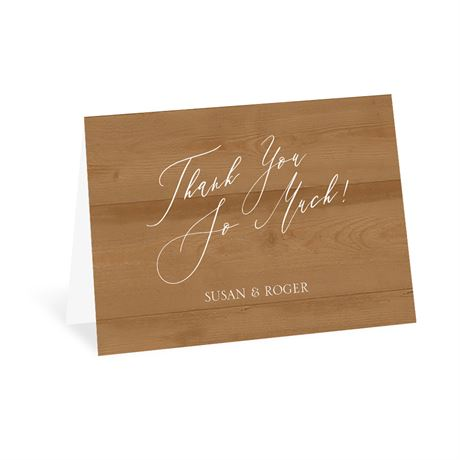 Natural Love Timber Thank You Card