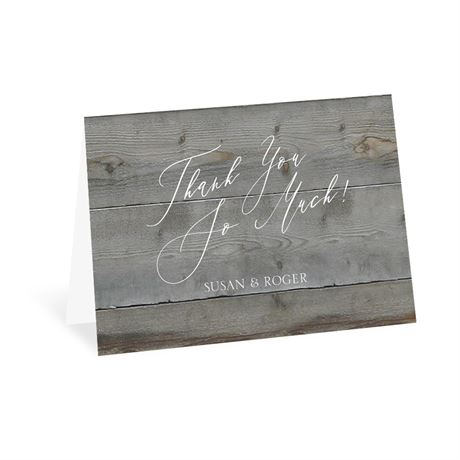 Natural Love Pewter Thank You Card